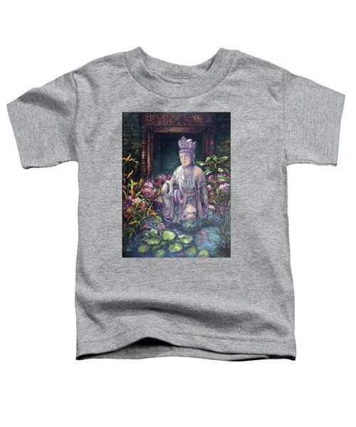 Budda Statue And Pond Toddler T-Shirt