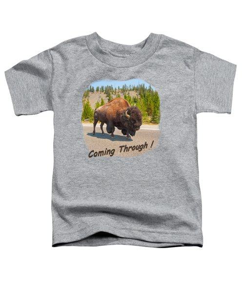 Buffalo Toddler T-Shirt by John M Bailey