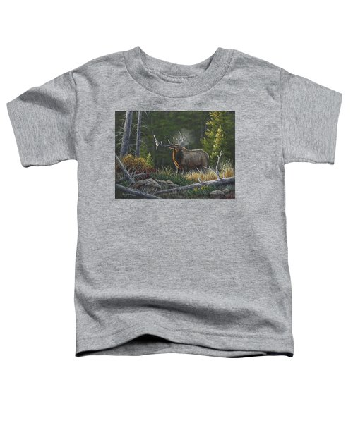 Bugling Bull Toddler T-Shirt