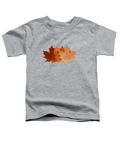 Burnt Sienna Autumn Leaves Toddler T-Shirt by Methune Hively