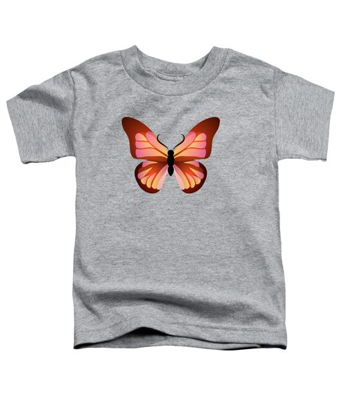 Butterfly Graphic Pink And Orange Toddler T-Shirt