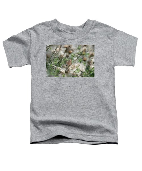 Butterfly In Puffy Seed Heads Toddler T-Shirt