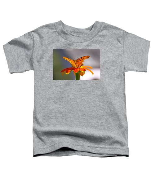 Butterfly On Flower Toddler T-Shirt