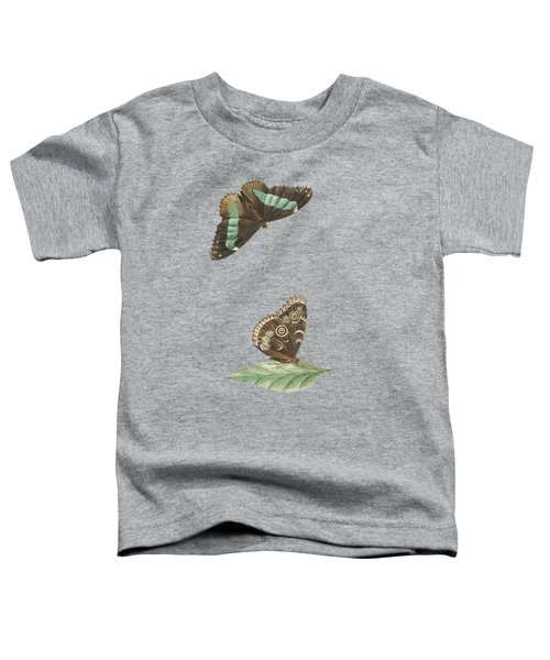 Butterfly Seen From Below And From Above By Cornelis Markee1763 Toddler T-Shirt