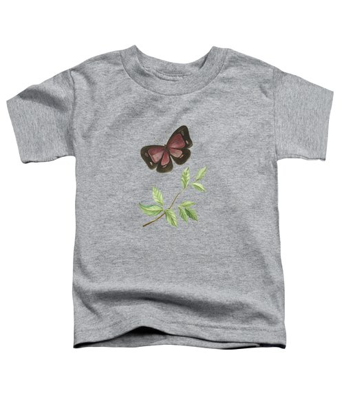 Butterfly With Leaf By Cornelis Markee 1763 Toddler T-Shirt