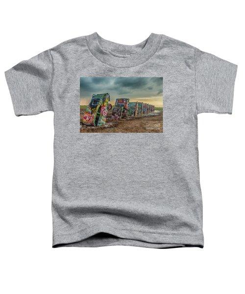 Cadillac Ranch Before The Rain Toddler T-Shirt