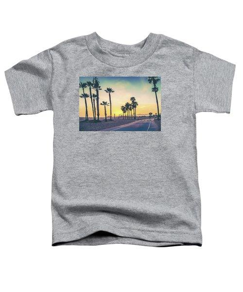 Cali Sunset Toddler T-Shirt by Az Jackson