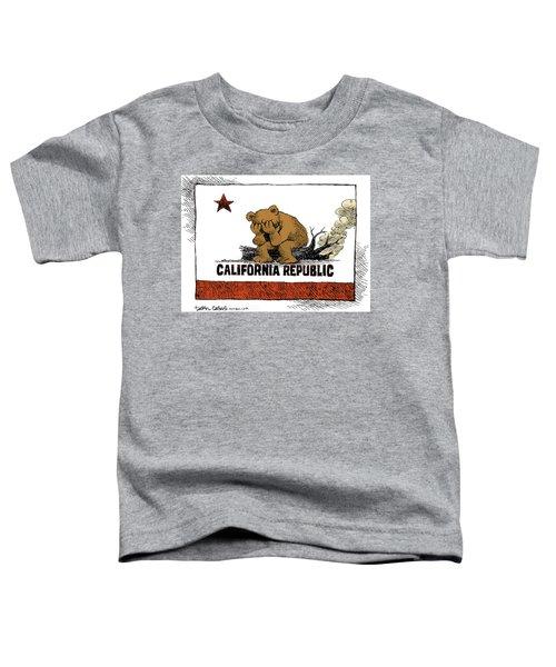 California Fire Bear Grieves Toddler T-Shirt