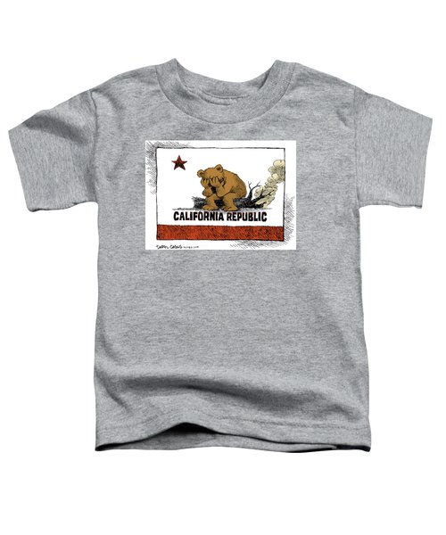 California Fire Bear Grieves Toddler T-Shirt