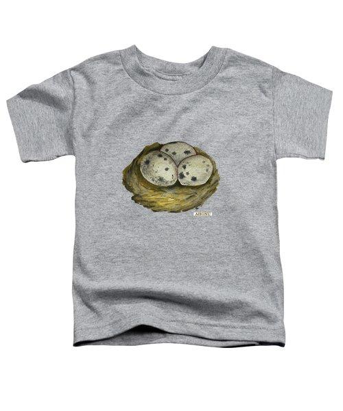 California Quail Eggs In Nest Toddler T-Shirt