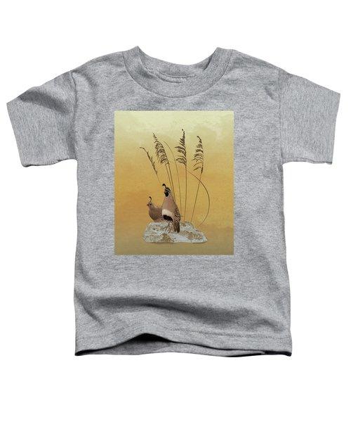California Valley Quail Toddler T-Shirt