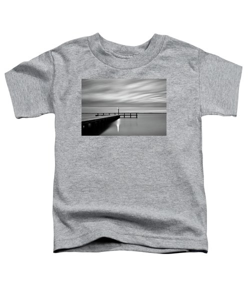 Calm Barnegat Bay New Jersey Black And White Toddler T-Shirt