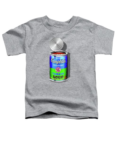 Campbell's Soup Revisited - Blue And Green Toddler T-Shirt by Serge Averbukh