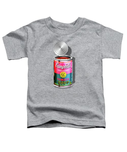Campbell's Soup Revisited - Pink And Green Toddler T-Shirt by Serge Averbukh