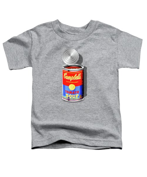 Campbell's Soup Revisited - Red And Blue   Toddler T-Shirt by Serge Averbukh