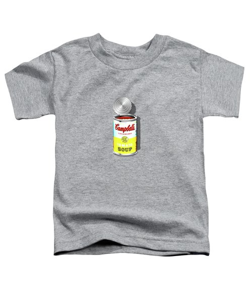 Campbell's Soup Revisited - White And Yellow Toddler T-Shirt