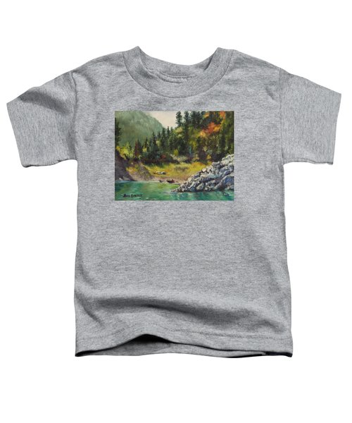 Camping On The Lake Shore Toddler T-Shirt