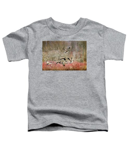 Canada Geese In Flight Toddler T-Shirt