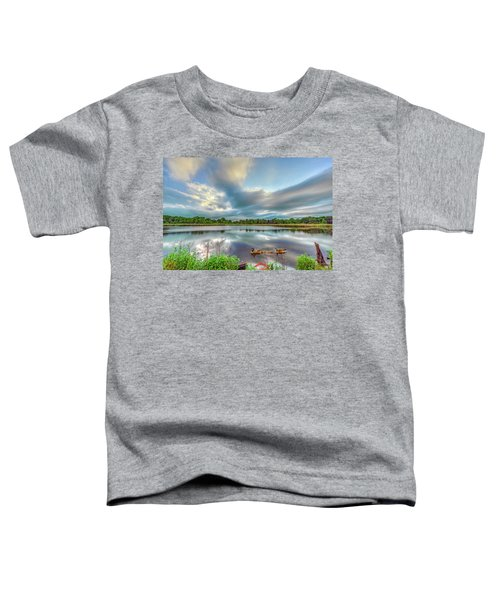 Canadian Geese On A Marylamd Pond Toddler T-Shirt