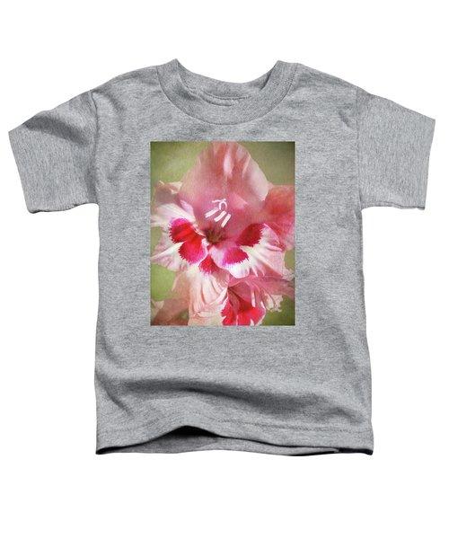 Candy Cane Gladiola Toddler T-Shirt