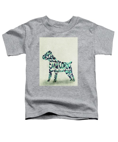 Cane Corso Watercolor Painting / Typographic Art Toddler T-Shirt