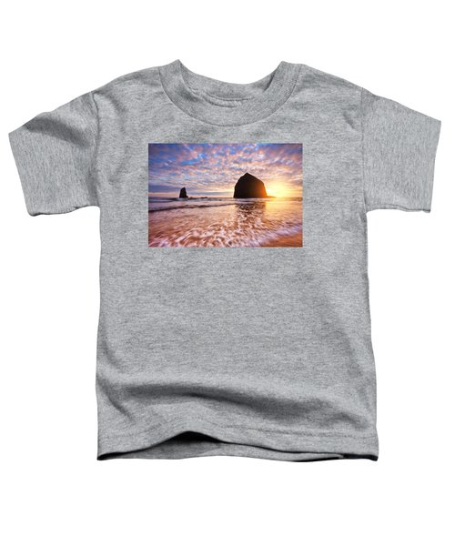 Cannon Beach Sunset Classic Toddler T-Shirt