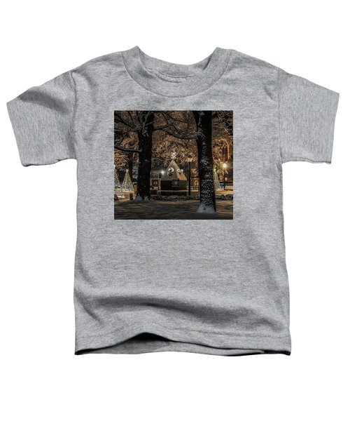 Canopy Of Christmas Lights Toddler T-Shirt