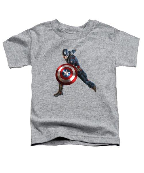 Captain America Splash Super Hero Series Toddler T-Shirt
