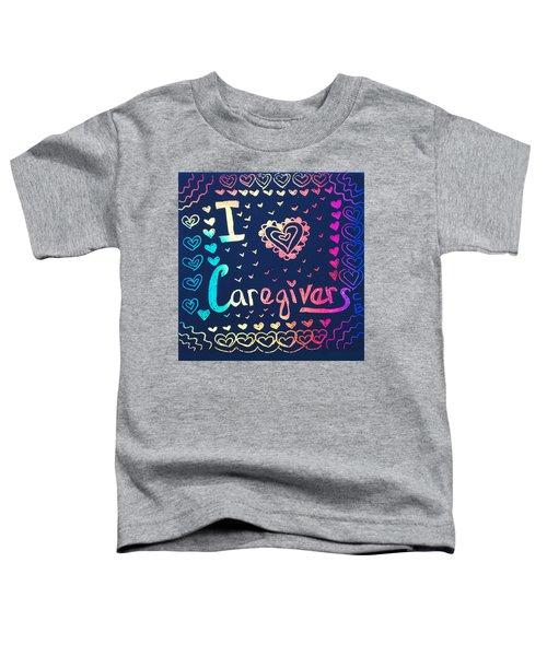 Caregiver Rainbow Toddler T-Shirt