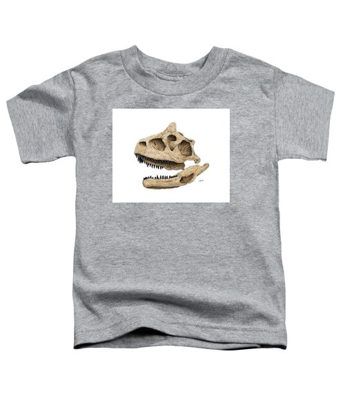 Carnotaurus Skull Toddler T-Shirt
