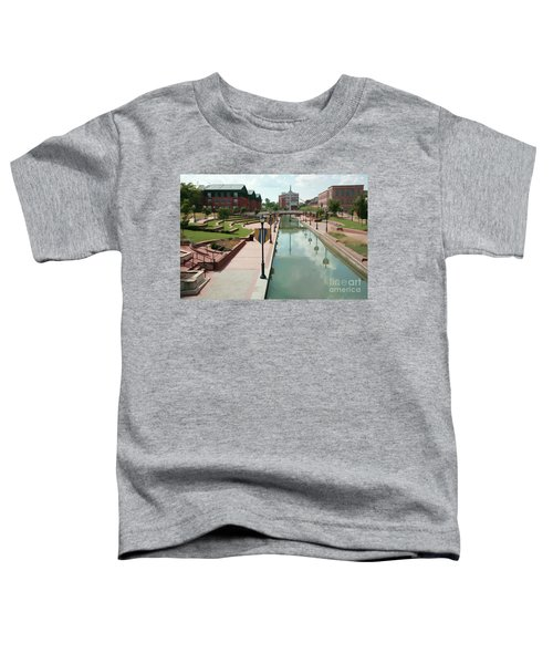 Carroll Creek Park In Frederick Maryland With Watercolor Effect Toddler T-Shirt