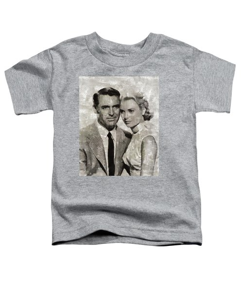 Cary Grant And Grace Kelly, Hollywood Legends Toddler T-Shirt
