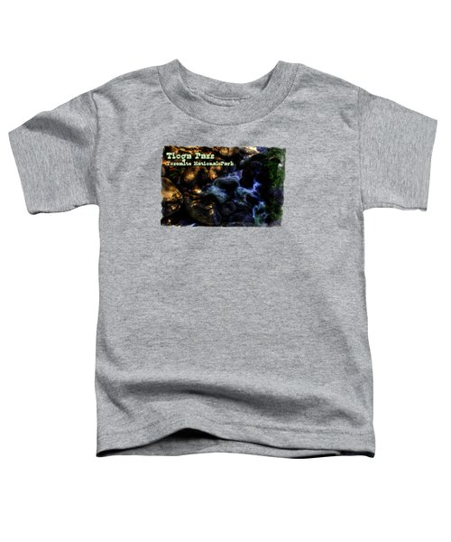 Cascade Along The Tioga Pass Yosemite Toddler T-Shirt by Roger Passman