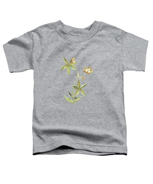 Caterpillar On A Cotton Plant With Butterfly By Cornelis Markee 1763 Toddler T-Shirt
