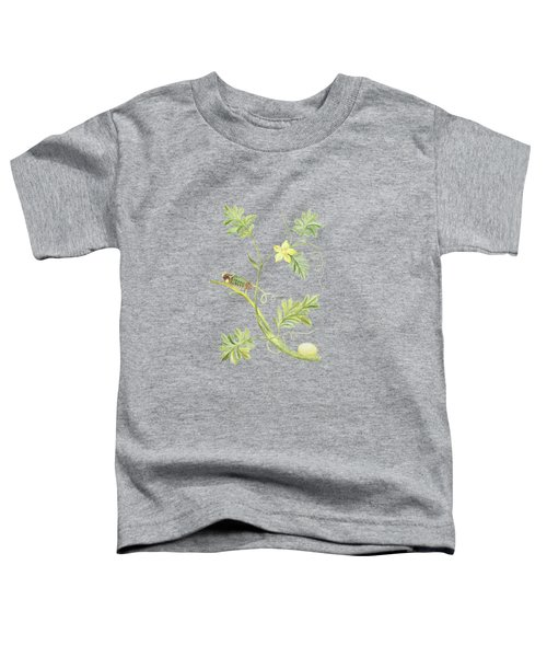 Caterpillar With Pupa On A Plant By Cornelis Markee 1763 Toddler T-Shirt