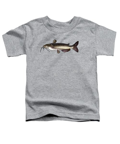 Catfish Drawing Toddler T-Shirt by A C
