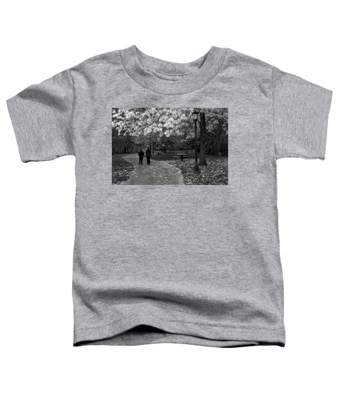 Cathedral Park In Fall Bw Toddler T-Shirt