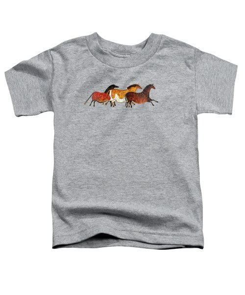 Cave Horses In Beige Toddler T-Shirt