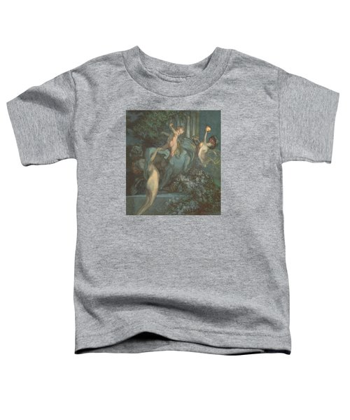 Centaur Nymphs And Cupid Toddler T-Shirt by Franz von Bayros