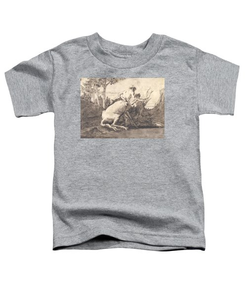 Centaur With A Young Satyr Toddler T-Shirt