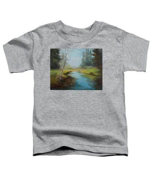 Cerulean Blue Stream Toddler T-Shirt