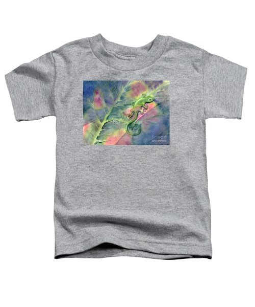 Chameleon Toddler T-Shirt by Amy Kirkpatrick