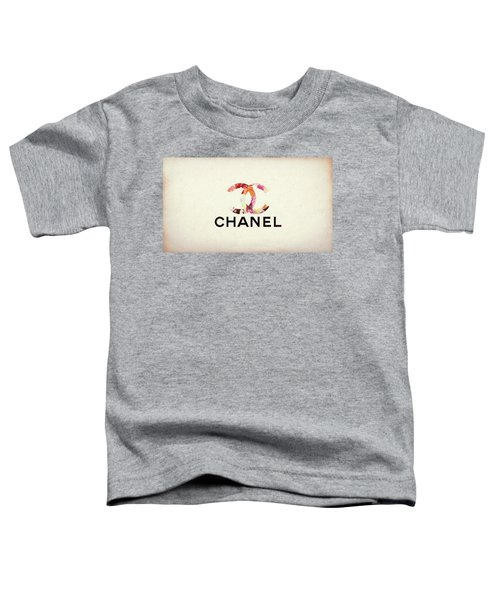 Chanel Floral Texture  Toddler T-Shirt
