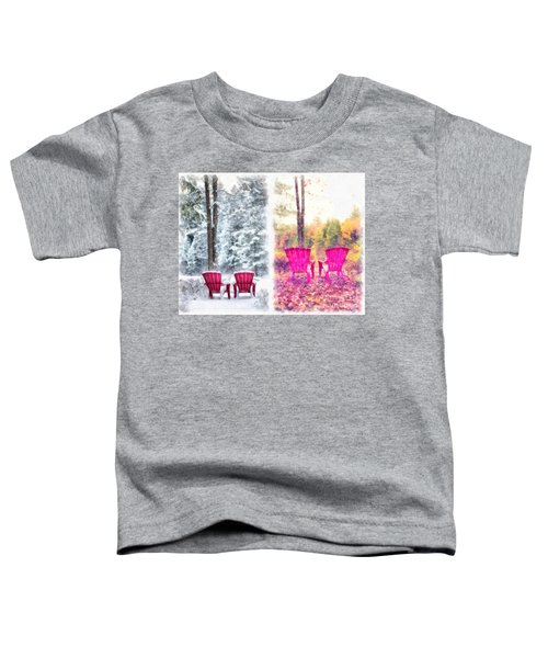 Changing Seasons Anderson Pond Eastman Grantham New Hampshire Toddler T-Shirt