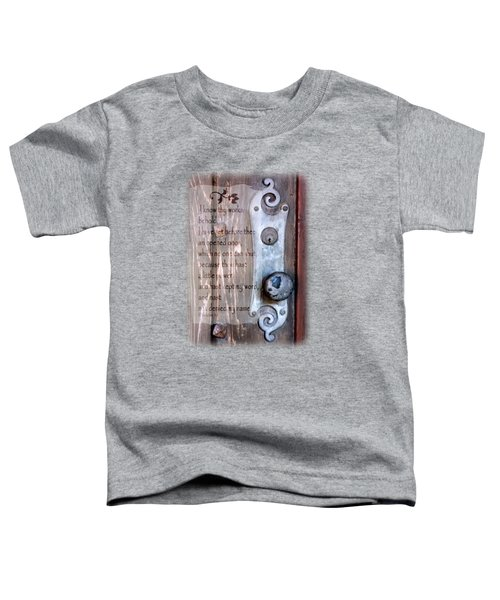 Chapel Door - Verse Toddler T-Shirt