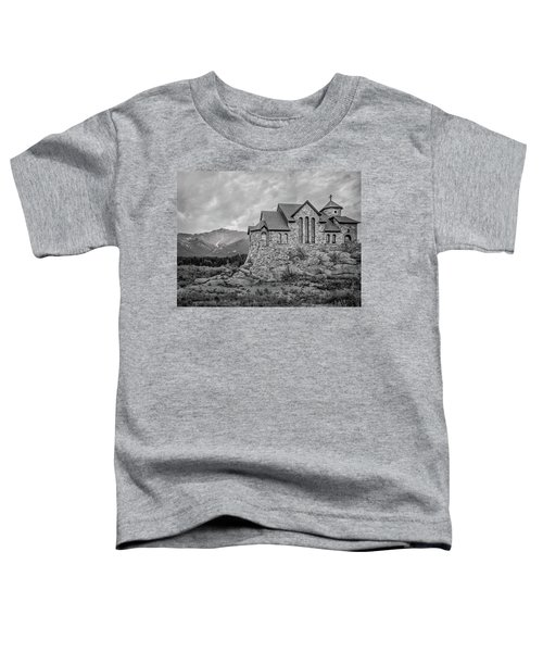 Chapel On The Rock - Black And White Toddler T-Shirt