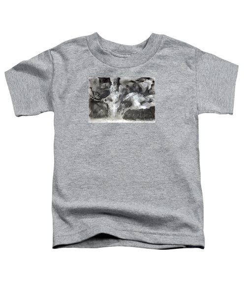 Charcoal Waterfall Toddler T-Shirt