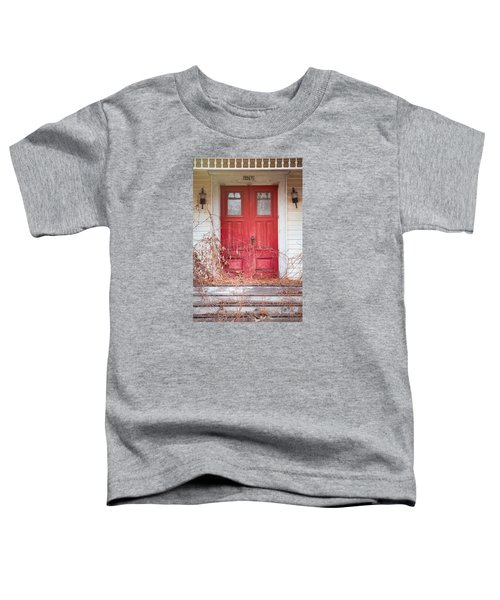 Charming Old Red Doors Portrait Toddler T-Shirt