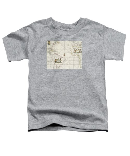 Chart Of The Atlantic Ocean Toddler T-Shirt