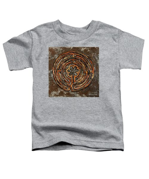 Chartres Style Labyrinth Earth Tones Toddler T-Shirt